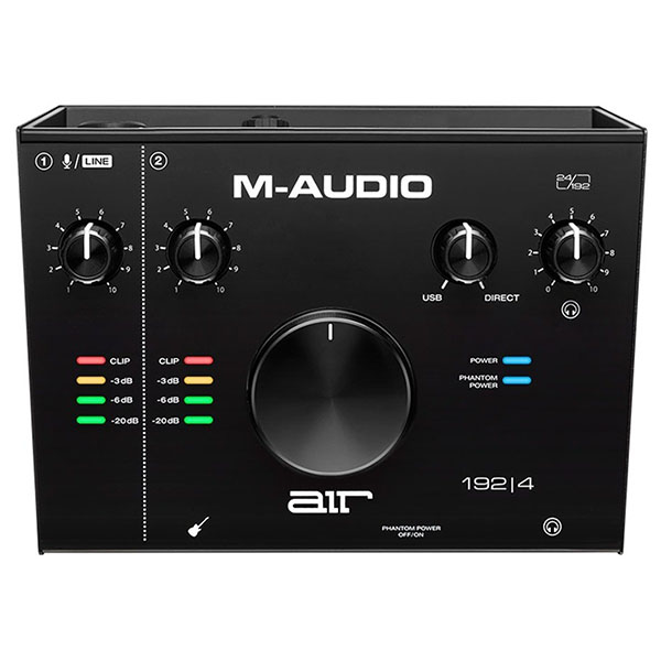 M-Audio AIR 192|4 M-Track 2X2 후속모델 2-in/2-out USB Audio Interface (24-bit/192kHz)