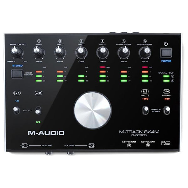 M-Audio M-Track 8X4M 8-In / 4-Out 24/192 USB Audio/MIDI Interface